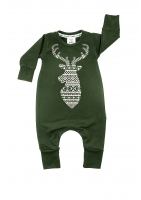 "ROMPER ""WINTER DEER """