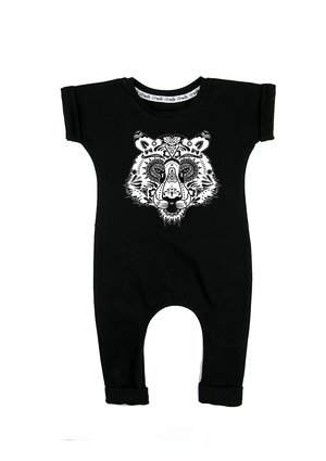 "SHORT SLEEVES ROMPER ""TIGER SKULL"""