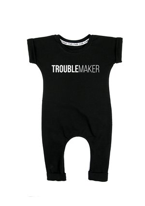 "SHORT SLEEVES ROMPER ""TROUBLE MAKER"""