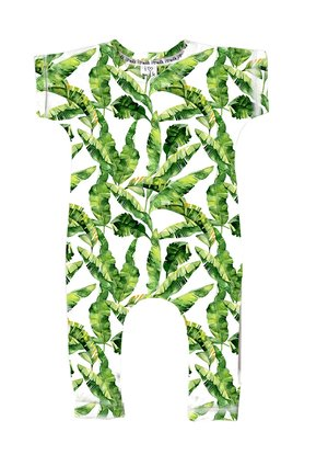 "SHORT SLEEVES ROMPER ""BANANA LEAVES"""