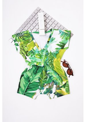 BANANAS PRINT PLAYSUIT WITH SHORTS