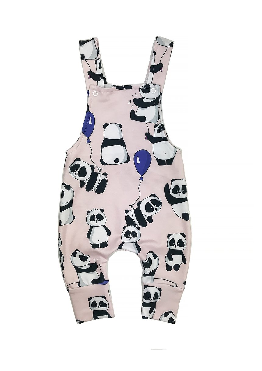 DUNGARESS POWDER PANDA PRINT