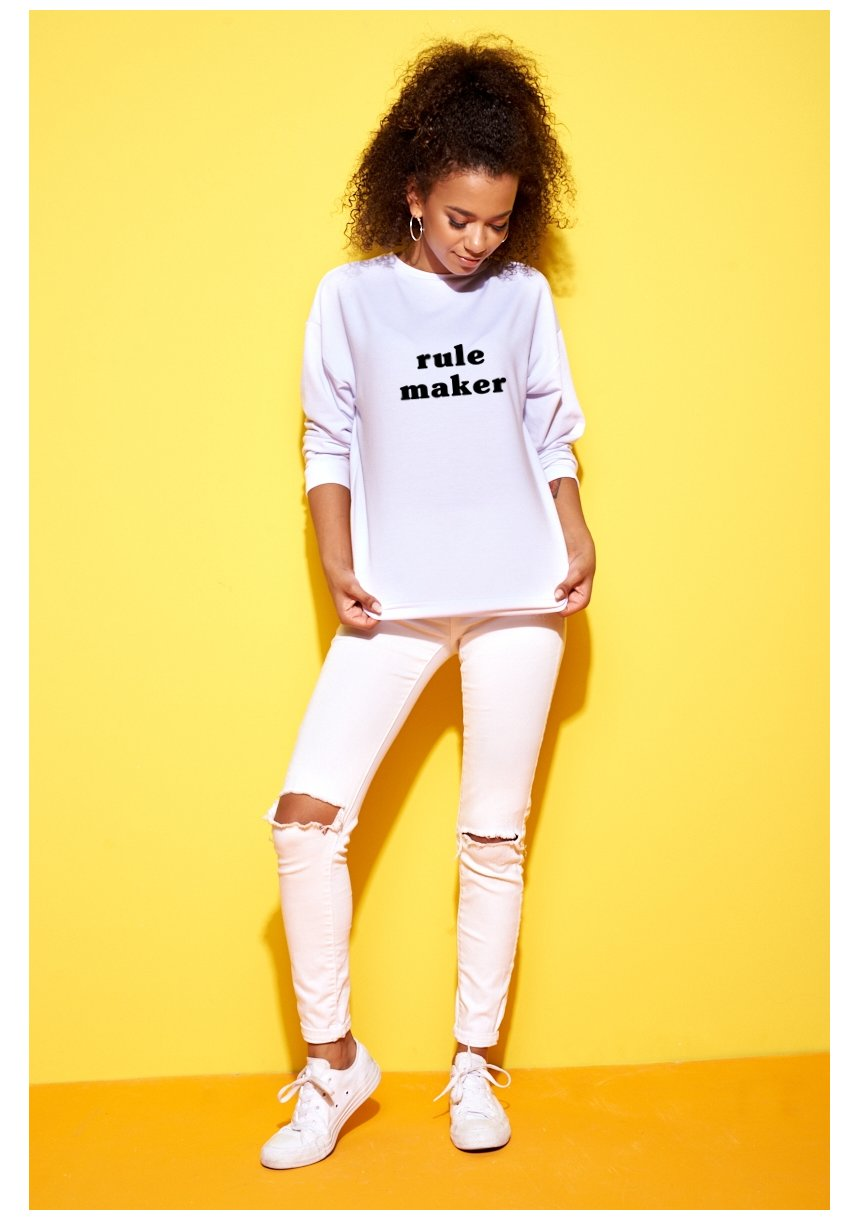 "SWEATSHIRT ""RULE MAKER"" MUM"
