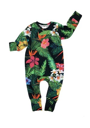 LONG SLEEVES ROMPER ALOHA FLOWER PRINT