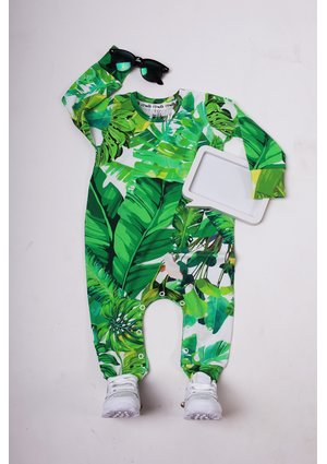 LONG SLEEVES ROMPER BANANAS PRINT