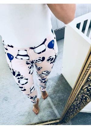 LEGGINSY POWDER PANDA MAMA ILM