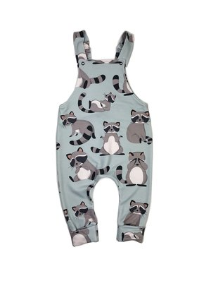 DUNGARESS RACCOON PRINT