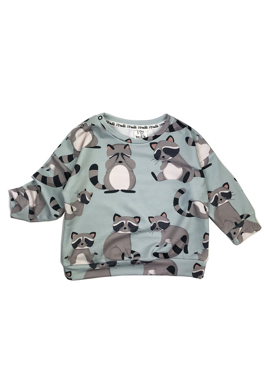 SWEATSHIRT RACCOON PRINT