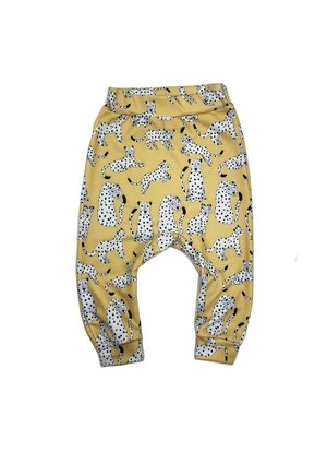 TROUSERS YELLOW LEOPARD PRINT