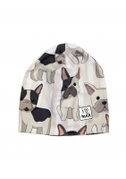 CZAPKA BEANIE FRENCH DOG PRINT