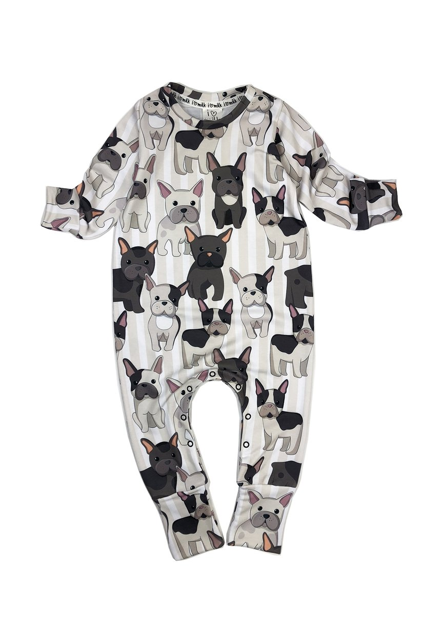 ROMPER FRENCH DOG PRINT