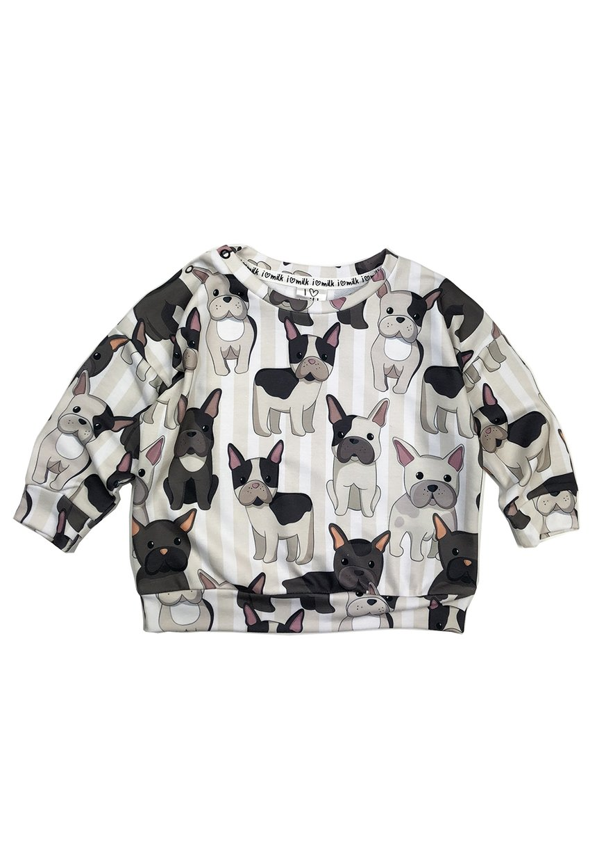 SWEATSHIRT FRENCH DOG  PRINT