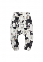TROUSERS FRENCH DOG PRINT