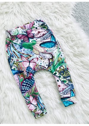 TROUSERS BUTTERFLY PRINT