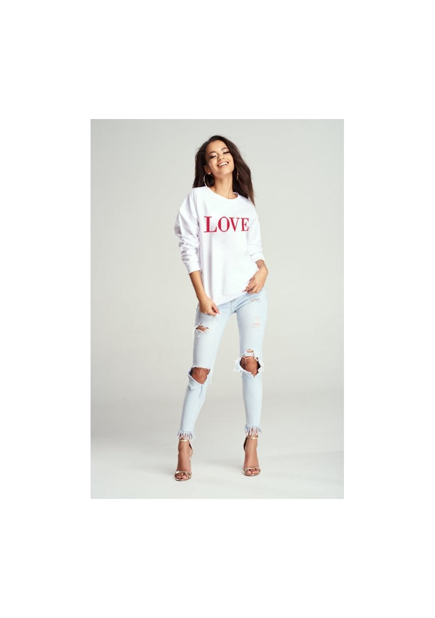 "SWEATSHIRT ""RED LOVE"" MUM"