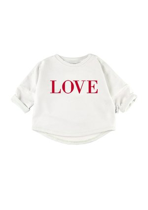 """RED LOVE"" PRINT SWEATSHIRT"