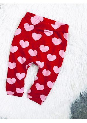 HEARTS PRINT TROUSERS
