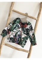 TROPICAL PRINT SWEATSHIRT