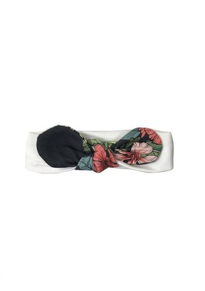 HEADBAND BLACK ALOHA FLOWER PRINT
