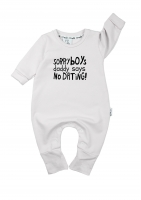 "LONG SLEEVES ROMPER ""SORRY BOYS"""