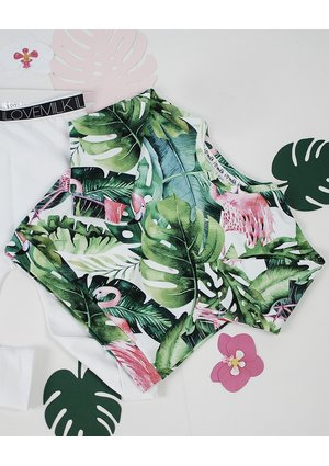 BLUZA MONSTERA PRINT