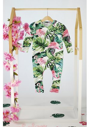 ROMPER MONSTERA PRINT