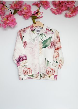 BOMBERKA WHITE ROSE PRINT