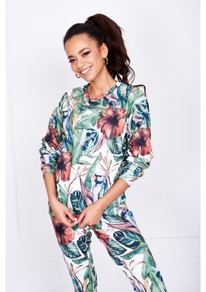 BLUZA TROPICAL PRINT MAMA