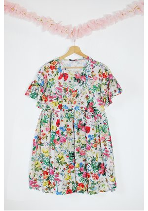 MUM DRESS IN SPRING FLOWERS PRINT
