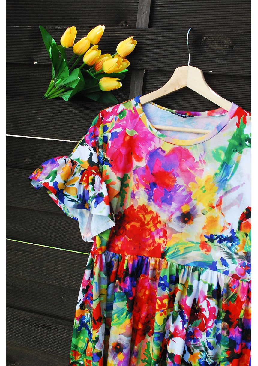 DRESS S COLORS PRINT