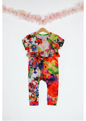 COLORS PRINT ROMPER
