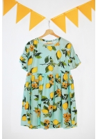 MUM DRESS IN LEMONADE PRINT