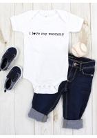 """BODY KRÓKI RĘKAW """"I LOVE MOMMY"""""""