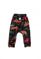 Spodnie print leopard safari