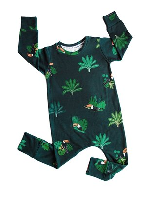 romper print jungle toucans
