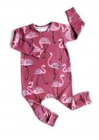 romper pink flamingos