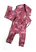 Spodnie print flamingos