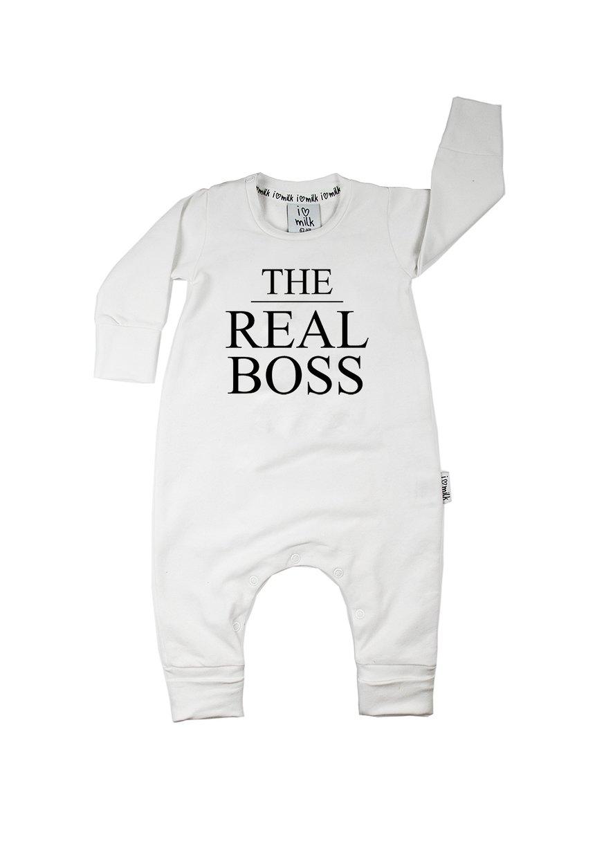 "Romper długi rękaw ""the real boss"""
