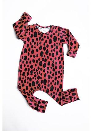 Romper print pink leopard