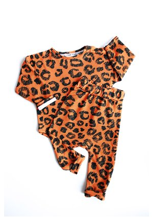 Bluza print orange leopard