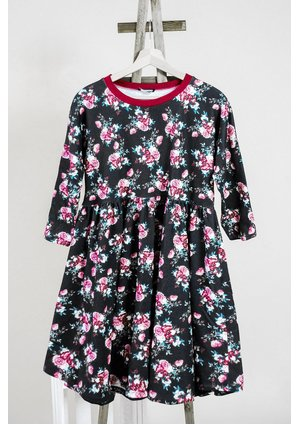 Sukienka print Burgundy flower mama