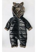 Kombinezon zimowy z uszami Leopard
