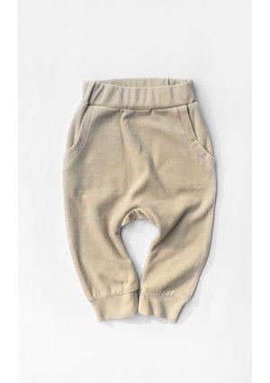 Spodnie z weluru Beżowe