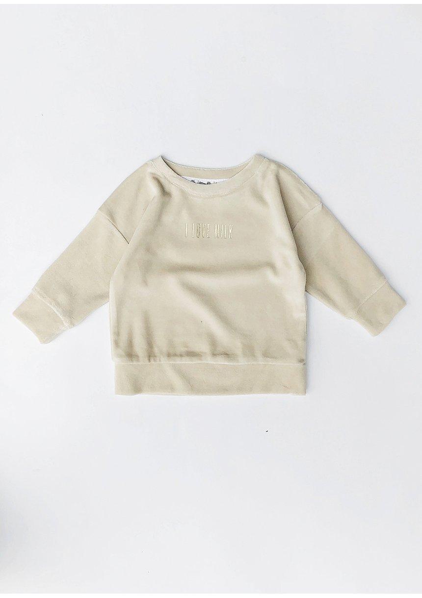 Bluza z weluru Beżowa