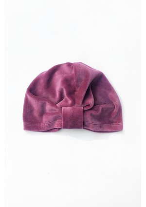 Czapeczka a'la turban z weluru Fioletowa