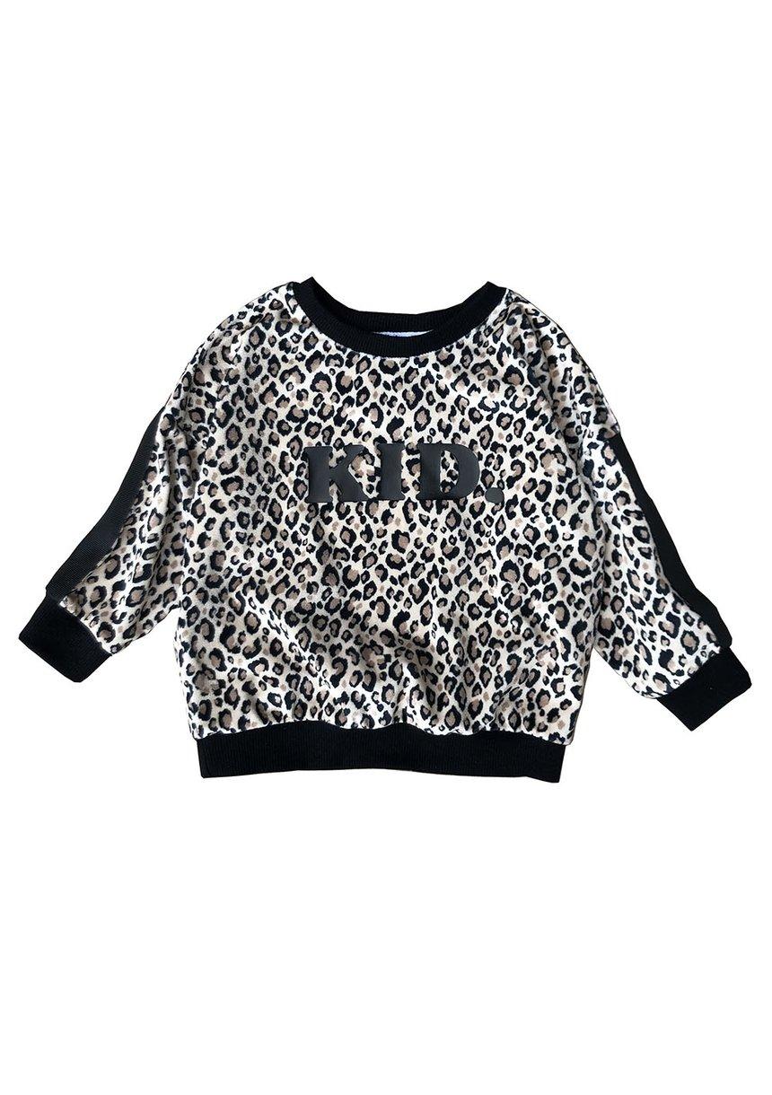 """Bluza velvet Leopard """"Kid."""""""