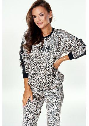 """Bluza velvet Leopard """"MUM."""""""