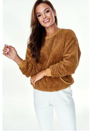 Bluza z kieszenią Plush mama Miodowa