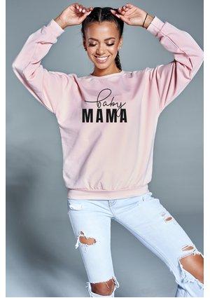 "Bluza ""baby mama"" Pudrowa"