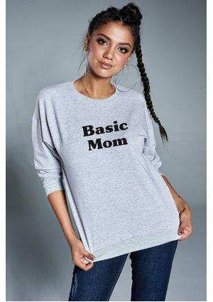 "Bluza mama "" basic mom "" Szara"
